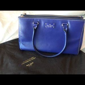 Kate Spade double zipper satchel with dust bag